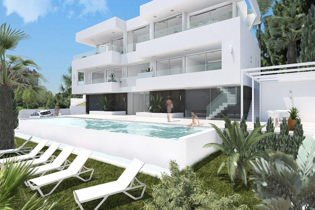 Schön Modernes Haus Mit Pool Und Garten Bilder - Innenarchitektur ...